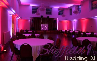 Danny & Reem Naylor's Wedding Reception with Moodlighting at Wortley Hall