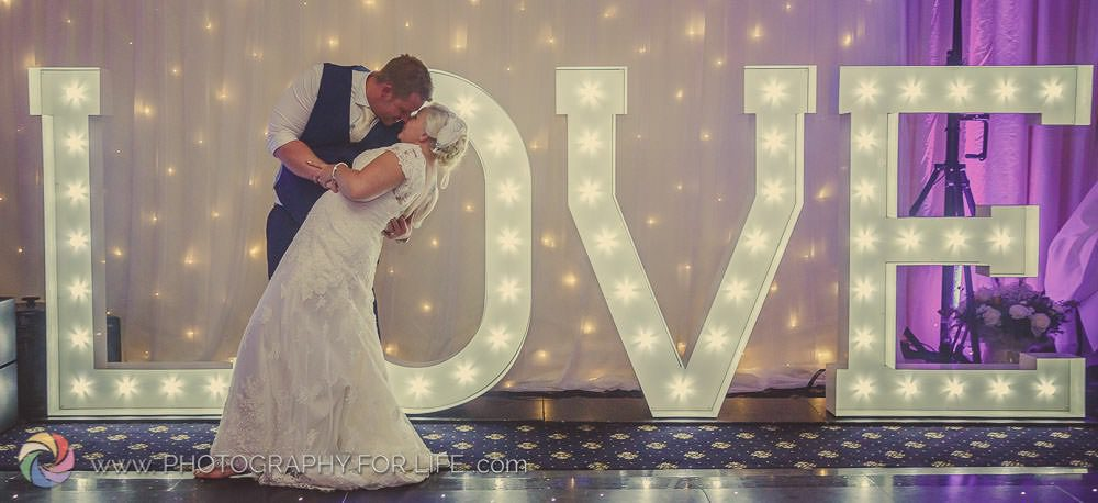 5ft White Illuminated LOVE Letters from Sheffield Wedding DJ